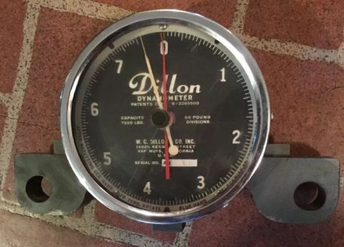 "Vintage dillon dynamometer 7,500 lbs 5"" dial with 50 lbs divisions nice used!"