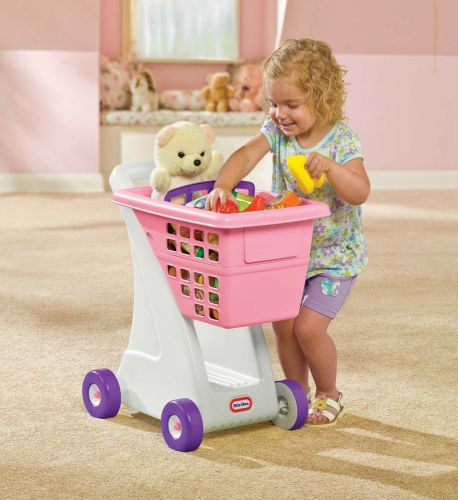 Grocery cart on wheels shopping folding toy cover for baby with kids