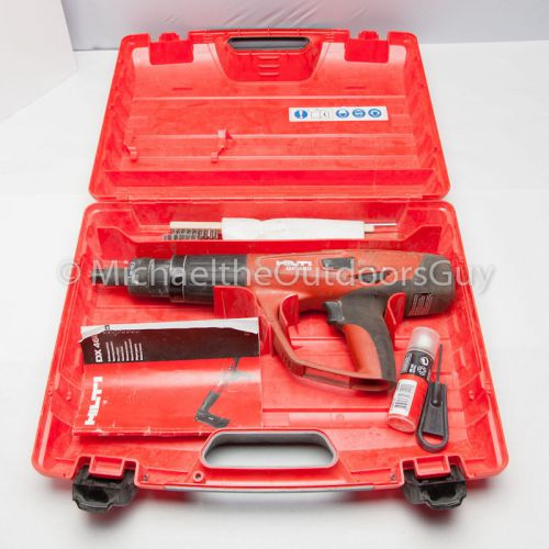 Hilti dx 460 powder actuated tool w/case & accessories dx460 great condition
