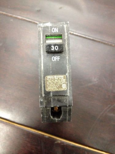 Ge circuit breaker 30 amp 1 pole used