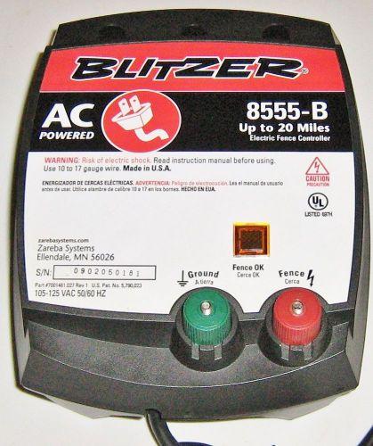 New Zareba Blitzer 20 Mile Electric Fence Controller Model