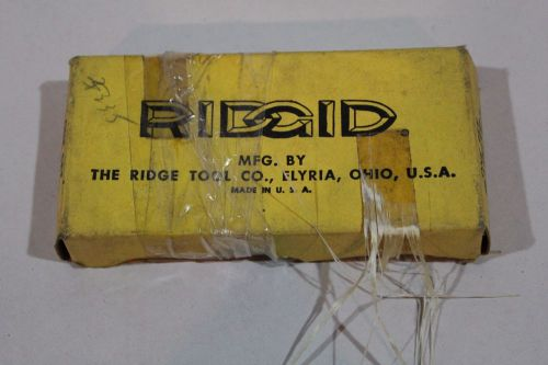 "Ridgid pipe threader dies one set 4"" 4-p plumbing vintage nos"