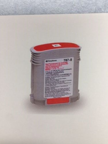 787-8 pitney bowes fl red ink cartridge (original pitney bowes)