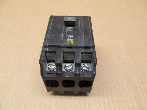 1 SQUARE D QOB QOB3100 100 AMP 3 POLE 240 VAC CIRCUIT BREAKER, US $29.50 � Picture 1
