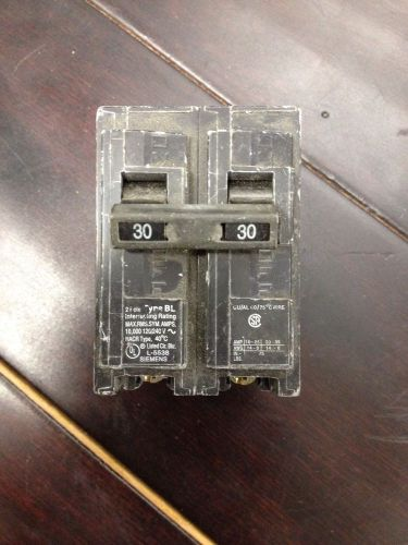 Siemens ite circuit breaker 2 pole 30 type bl used