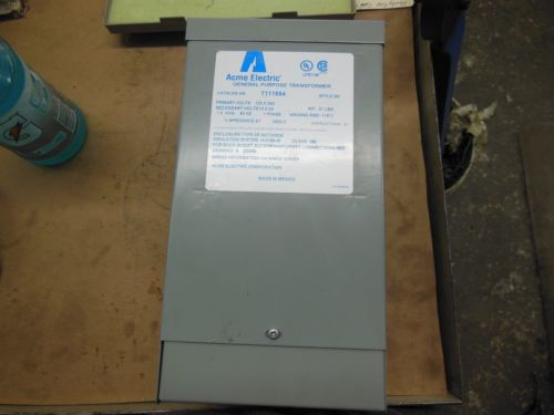 """NEW"" But Selling as Used Acme Transformer (SEE PICTURES) Model #111684, US $200.00 � Picture 2"