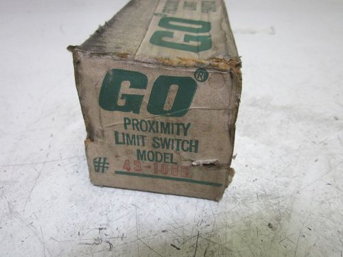 Go switch 43-100d proximity limit switch 120, 240 & 480vac *new in a box*