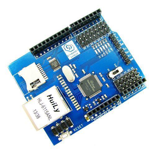 Ethernet Shield w/ Wiznet W5100 Ethernet Chip / TF