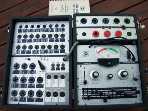 Seco 107B Vacuum Tube Tester with Tube Index Flip Chart