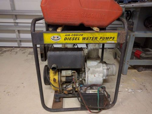 Disel water trash pump