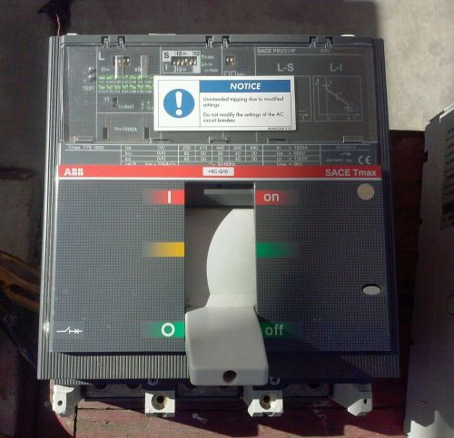 ABB Sace  Tmax T7S 1600A Circuit Breaker PR231/P - USED, US $300.00 – Picture 1