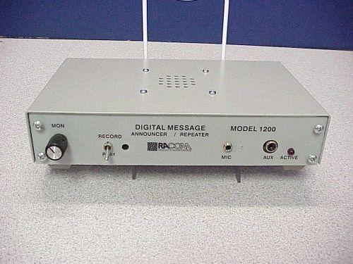 Racom Model 1200fe 2 0 C Message Recorder W Feedback