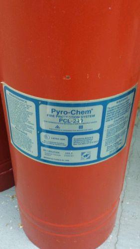 Pyro Chem Pcl 240 Fire System Tank Light Blue Label Used