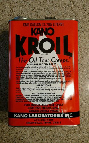 "Kroil by kano - penetrating oil - ""the oil that creeps"" - one gallon can"