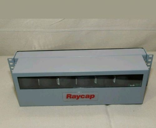 New raycap/commscope 6-circuit ovp rack surge protection rr0dc-2260-rm-48