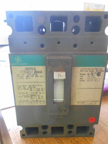 GE CIRCUIT BREAKER 70 AMP 480 VOLT TED134070, US $49.99 � Picture 1