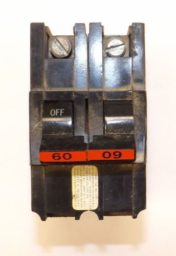 Federal pacific 60-amp 2-pole 240-volt na stab-lok circuit breaker