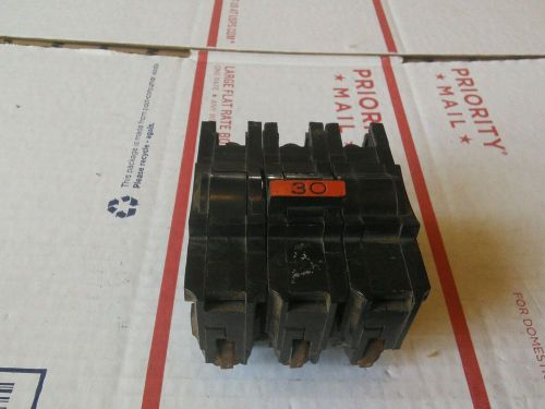 Federal pacific na3030 30 amp 3 pole plug-in circuit breaker