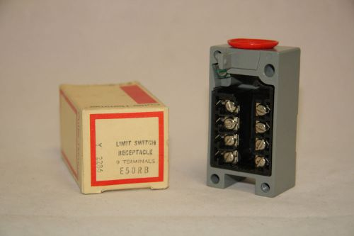 Cutler hammer e50rb limit switch receptacle series a1 new in box e50 9 terminals