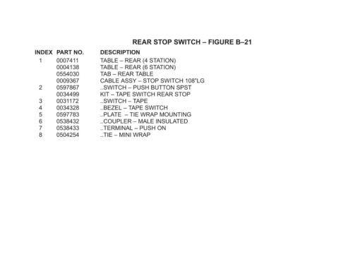 Bell Howell Mailstar A775 Parts manual (037)   TZSupplies com