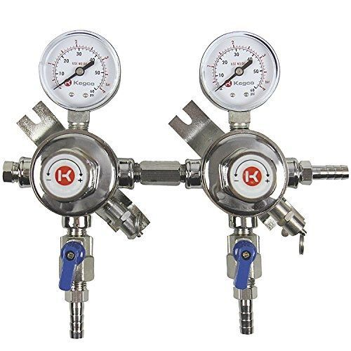 Kegco KC LH 54S 2 Pro Series Two Product Secondary Regulator Chrome