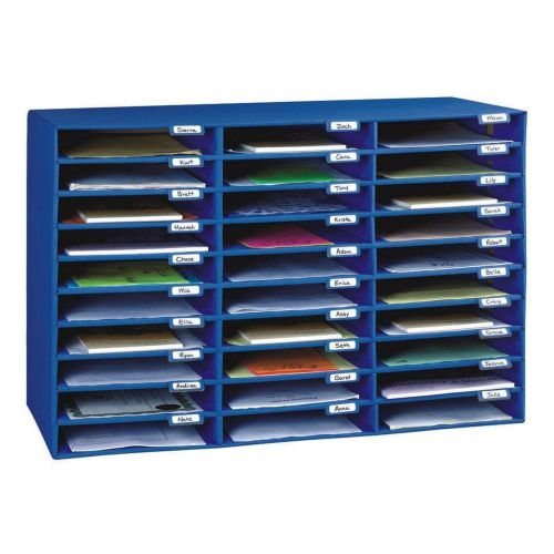Pacon classroom keepers 30-slot mailbox, blue (001318) brand new!