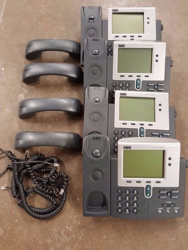 Lot of 4 cisco 7940 ip office phones