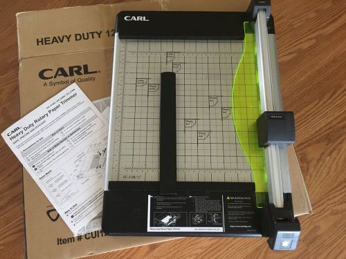 "Carl heavy duty 12"" paper cutter trimmer dc210"