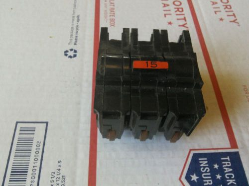 Federal pacific na3015 15 amp 120/240 volt 3 pole plug-in circuit breaker