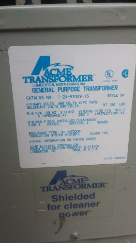 Acme electric transformer t2a533291s brand new