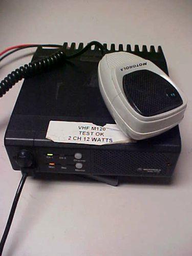 Motorola maxtrac mobile radio 2ch vhf 45w d43mja7304bk