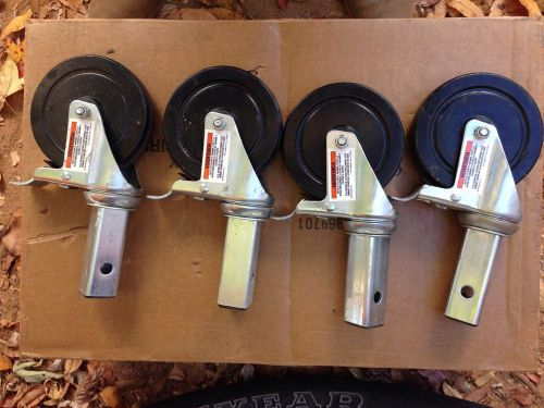 "A set 4 scaffolding 5"" multi function square stem wheels with lock for wheel"