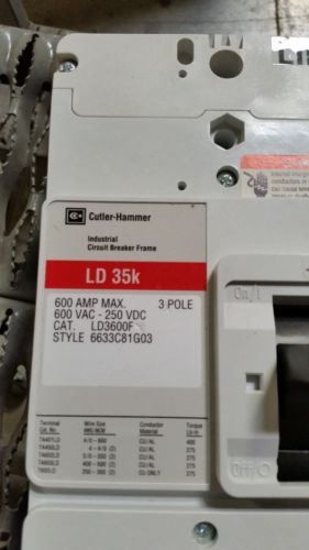 Cutler-Hammer LD3600F 3-Pole Industrial Circuit Breaker Frame LD35K NEW IN BOX, US $500.00 � Picture 5
