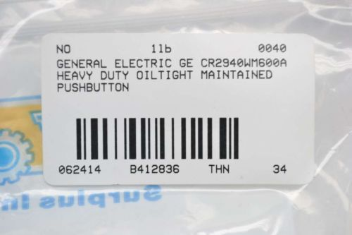 NEW GENERAL ELECTRIC GE CR2940WM600A OILTIGHT MAINTAINED PUSHBUTTON B412836, US $33.18 � Picture 4