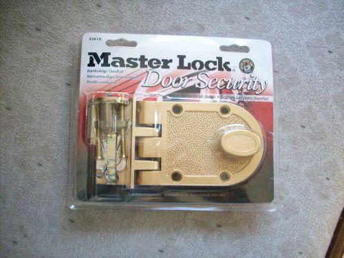 Master lock deadbolt