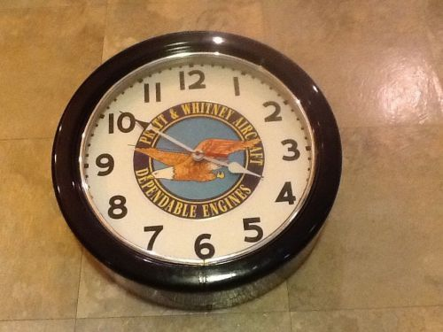 Pratt & whitney dependable engines --neon-- wall clock **rare**