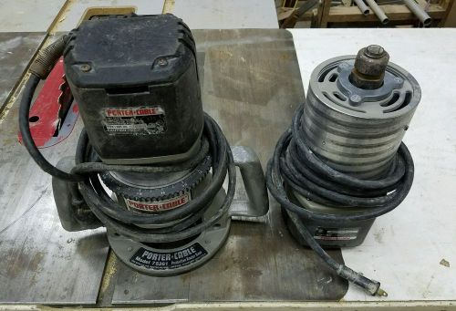 Porter-cable 75192 production router motors (2) and 75361 router base (1)
