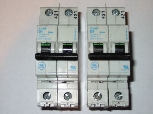 Lot of 2 general electric ge circuit breaker   v-line d1