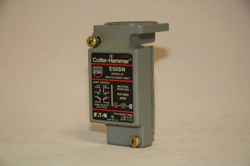 Cutler hammer e50sn limit switch contact body 600v nema b600 pilot duty new