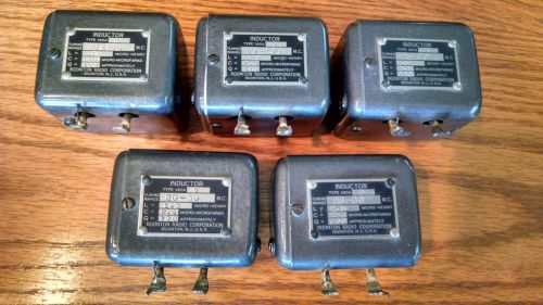 "Boonton 590a inductors - for use in 170-a/190a ""q"" meters / qty of 5"