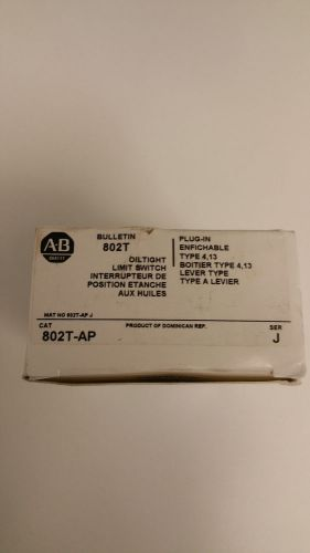 Allen bradley 802t-ap oiltight limit switch ser. j - new in box!