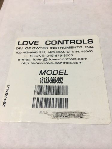 New dwyer love controls 16133 temperature / process controller
