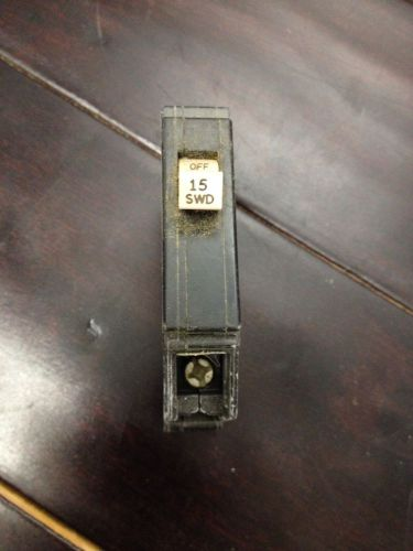 Eaton breaker 1 pole 15 amp used