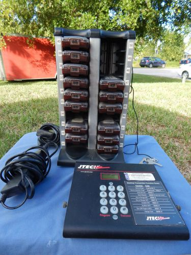 Jtech Pager System Transmitter With 14 Pagers And Charging