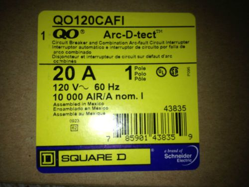 3  New Square D  QO120CAFI  20 Amp Breaker and Arc Fault Interrupter Combination, US $59.00 � Picture 2