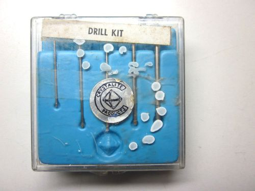 New crystalite products industrial quality metal bond diamond drill 5 small bits