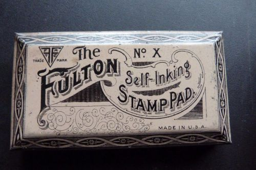 Vintage the fulton self-inking stamp pad no. x