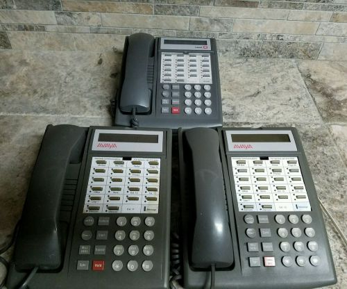 Lot of 3 avaya lucent office phones models 7311h14b & 7311h14g