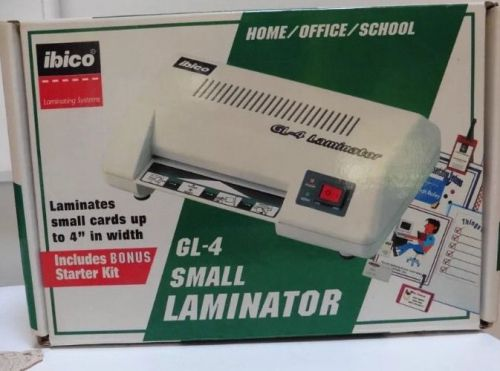 "New IBICO  GL-4  Personal Laminator Home/Office/School Up To 4"" Width � Picture 1"
