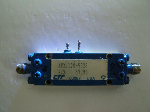 RF AMPLIFIER CTT LOW NOISE 4GHz-12GHz AFM/120-5028 GAIN 28dB